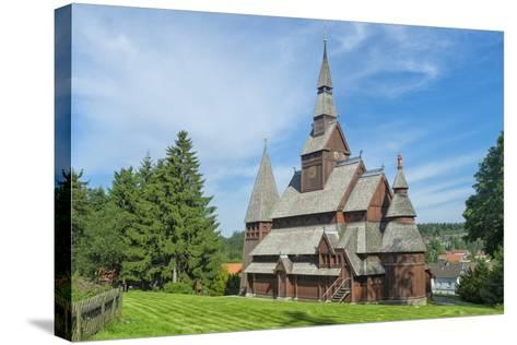 Protestant Gustav Adolf Stave Church, Hahnenklee, Harz, Lower Saxony, Germany, Europe-G & M Therin-Weise-Stretched Canvas Print