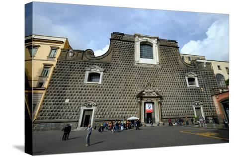 Church of Gesu Nuovo, Naples, Campania, Italy, Europe-Carlo Morucchio-Stretched Canvas Print