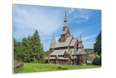 Protestant Gustav Adolf Stave Church, Hahnenklee, Harz, Lower Saxony, Germany, Europe-G & M Therin-Weise-Metal Print