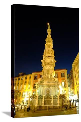 Obelisco Dell'Immacolata, Piazza Del Gesu Nuovo, Naples, Campania, Italy, Europe-Carlo Morucchio-Stretched Canvas Print