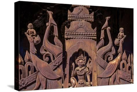 Nat Taung Wood Monastery, Dated 13th Century, Village of Taung Be, Bagan (Pagan), Myanmar (Burma)-Nathalie Cuvelier-Stretched Canvas Print