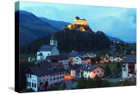 Scuol Tarasp (Tarasp Castle) (Schloss Tarasp), Engadine, Graubunden, Switzerland, Europe-Christian Kober-Stretched Canvas Print