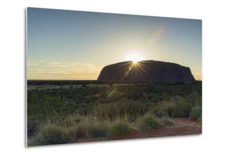Uluru, Uluru-Kata Tjuta National Park, Northern Territory, Australia, Pacific-Ian Trower-Metal Print