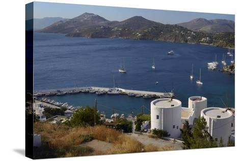 Old Windmills, Greek Islands-Nick Upton-Stretched Canvas Print