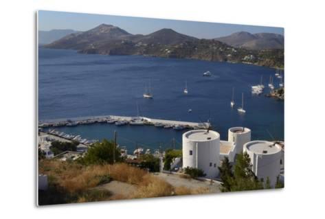 Old Windmills, Greek Islands-Nick Upton-Metal Print