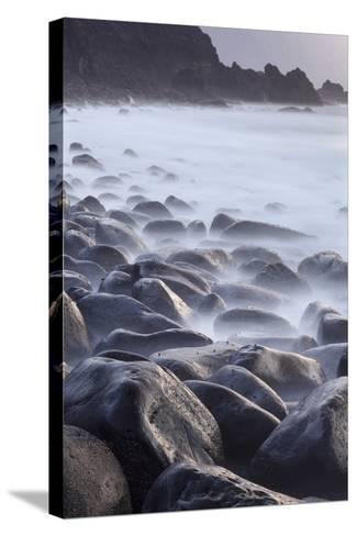 Basalt Boulders in the Ocean, El Golfo, El Hierro, Canary Islands, Spain-Markus Lange-Stretched Canvas Print