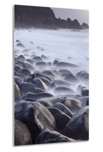 Basalt Boulders in the Ocean, El Golfo, El Hierro, Canary Islands, Spain-Markus Lange-Metal Print