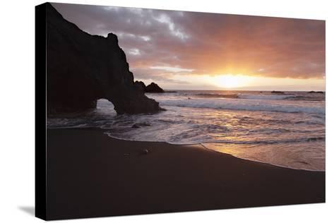 Zamora Beach at Sunset (Playa De La Zamora) Near Fuencaliente, La Palma, Canary Islands, Spain-Markus Lange-Stretched Canvas Print