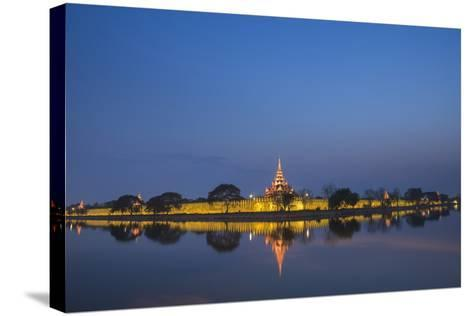 Mandalay City Fort and Palace Reflected in the Moat Surrrounding the Compound-Matthew Williams-Ellis-Stretched Canvas Print