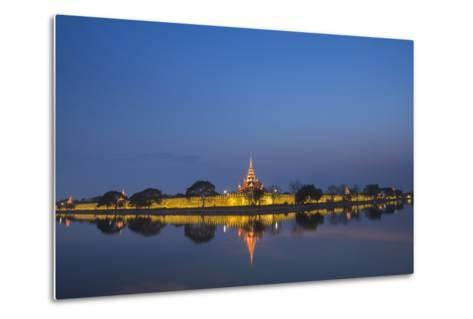 Mandalay City Fort and Palace Reflected in the Moat Surrrounding the Compound-Matthew Williams-Ellis-Metal Print