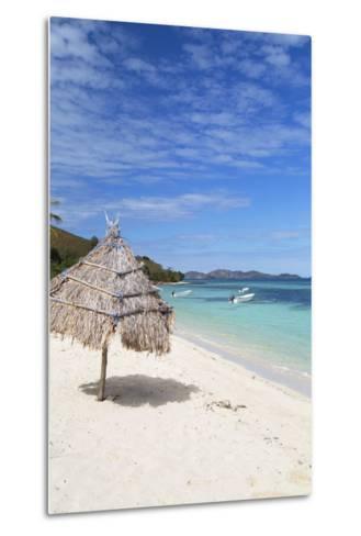 Beach on Mana Island, Mamanuca Islands, Fiji, South Pacific, Pacific-Ian Trower-Metal Print