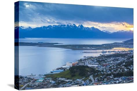 Sunset at Ushuaia, the Southern Most City in the World, Tierra Del Fuego, Patagonia, Argentina-Matthew Williams-Ellis-Stretched Canvas Print