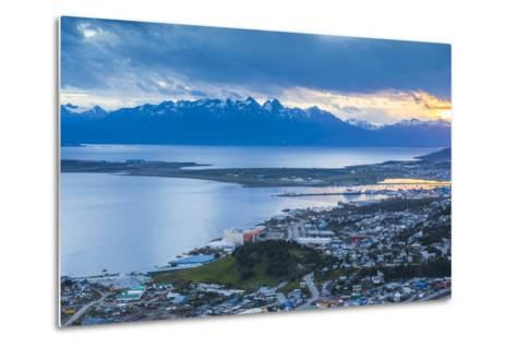 Sunset at Ushuaia, the Southern Most City in the World, Tierra Del Fuego, Patagonia, Argentina-Matthew Williams-Ellis-Metal Print