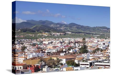 View over San Cristobal De La Laguna to Pico Del Teide, Tenerife, Canary Islands, Spain, Europe-Markus Lange-Stretched Canvas Print