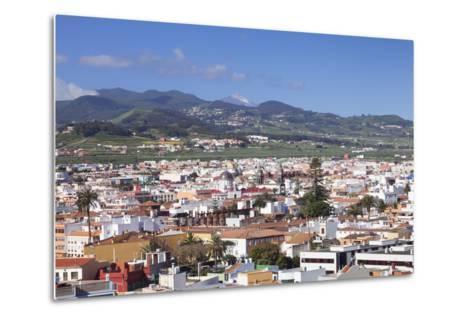 View over San Cristobal De La Laguna to Pico Del Teide, Tenerife, Canary Islands, Spain, Europe-Markus Lange-Metal Print