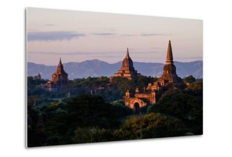 Buddhist Temples, Bagan (Pagan), Myanmar (Burma), Asia-Nathalie Cuvelier-Metal Print