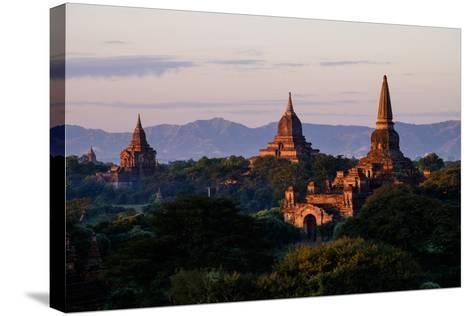 Buddhist Temples, Bagan (Pagan), Myanmar (Burma), Asia-Nathalie Cuvelier-Stretched Canvas Print