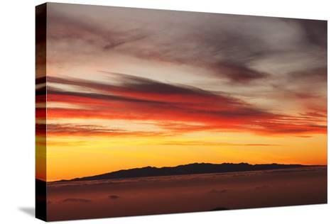 View from Tenerife to Gran Canaria, Tenerife, Canary Islands, Spain, Europe-Markus Lange-Stretched Canvas Print