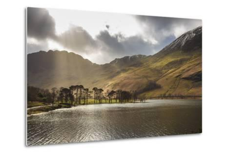 Shafts of Light Break Through Clouds to Illuminate the Fells in Winter, England-Eleanor Scriven-Metal Print