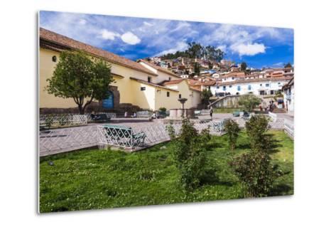 San Blas Square (Plazoleta De San Blas), Cusco, Cusco Region, Peru, South America-Matthew Williams-Ellis-Metal Print