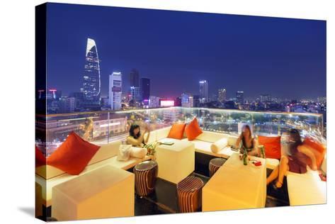 Rooftop Bar at Silverland Central Hotel and Spa, Ho Chi Minh City (Saigon), Vietnam, Indochina-Christian Kober-Stretched Canvas Print
