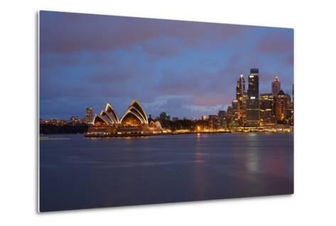 Opera House from North Sydney, Sydney, New South Wales, Australia, Oceania-Frank Fell-Metal Print