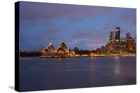 Opera House from North Sydney, Sydney, New South Wales, Australia, Oceania-Frank Fell-Stretched Canvas Print
