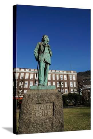Statue of Composer Edvard Grieg, Bergen, Hordaland, Norway, Scandinavia, Europe-Robert Harding-Stretched Canvas Print
