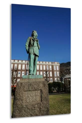 Statue of Composer Edvard Grieg, Bergen, Hordaland, Norway, Scandinavia, Europe-Robert Harding-Metal Print