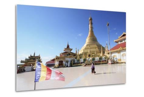 Kyaik Tan Lan Pagoda in Mawlamyine, Mon, Myanmar (Burma), Southeast Asia-Alex Robinson-Metal Print