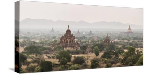 Bagan (Pagan) Buddhist Temples and Ancient City, Myanmar (Burma), Asia-Matthew Williams-Ellis-Stretched Canvas Print