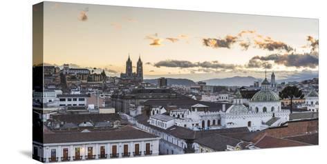 Old City of Quito, Historic Centre, Showing La Basilica Church, Ecuador, South America-Matthew Williams-Ellis-Stretched Canvas Print