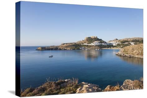 View across the Tranquil Waters of Lindos Bay, South Aegean-Ruth Tomlinson-Stretched Canvas Print