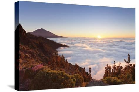 Pico Del Teide at Sunset, National Park Teide, Tenerife, Canary Islands, Spain-Markus Lange-Stretched Canvas Print