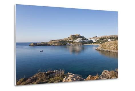 View across the Tranquil Waters of Lindos Bay, South Aegean-Ruth Tomlinson-Metal Print