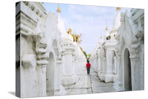 Kuthodaw Pagoda - Stupas Housing the World's Largest Book, Mandalay, Myanmar (Burma)-Alex Robinson-Stretched Canvas Print