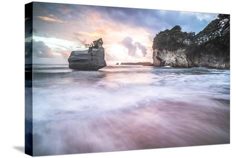 Cathedral Cove at Sunrise, Coromandel Peninsula, North Island, New Zealand, Pacific-Matthew Williams-Ellis-Stretched Canvas Print