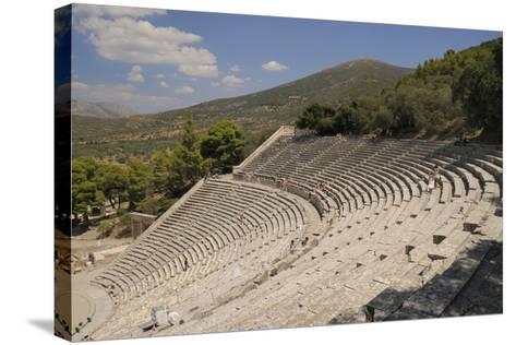 Ancient Theatre of Epidaurus (Epidavros), Argolis, Peloponnese, Greece, Europe-Nick Upton-Stretched Canvas Print