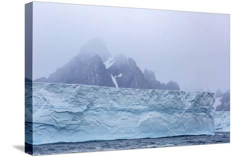 Huge Tabular Icebergs Broken Off from B-17A Iceberg Near Cooper Bay, Polar Regions-Michael Nolan-Stretched Canvas Print