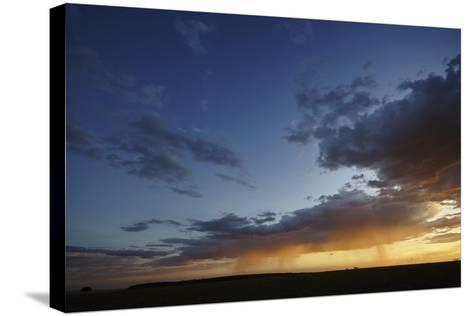 Rain and Sunset on the Maasai Mara Plains, Kenya, East Africa, Africa-Frederic Courbet-Stretched Canvas Print