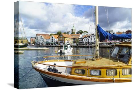 Stavanger Harbour, Norway, Scandinavia, Europe-Amanda Hall-Stretched Canvas Print
