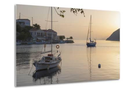 View across the Tranquil Harbour, Dodecanese Islands-Ruth Tomlinson-Metal Print