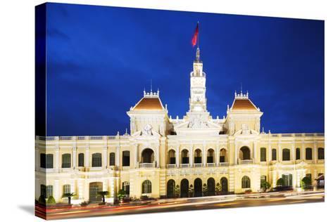 Hotel De Ville (City Hall), Ho Chi Minh City (Saigon), Vietnam, Indochina, Southeast Asia, Asia-Christian Kober-Stretched Canvas Print