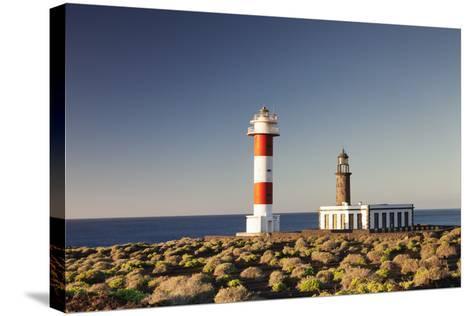 Faro De Fuencaliente Lighthouses at Sunrise, Punta De Fuencaliente, La Palma, Canary Islands, Spain-Markus Lange-Stretched Canvas Print