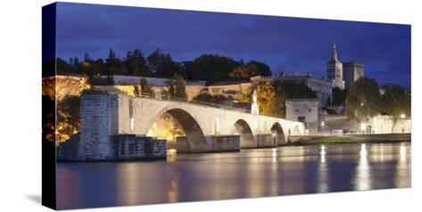 Bridge St. Benezet over Rhone River-Markus Lange-Stretched Canvas Print