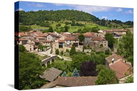 Panorama of Lavaudieu, a Medieval Village, Auvergne, Haute Loire, France, Europe-Guy Thouvenin-Stretched Canvas Print