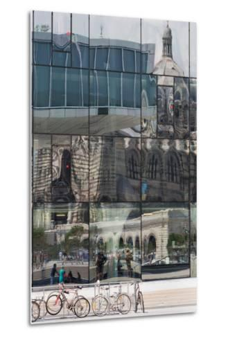 The New Mucem Gallery in Marseille with the Cathedral Reflected in the Glass, Provence, France-Martin Child-Metal Print