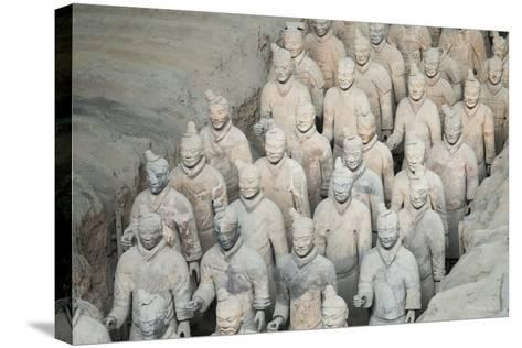 Museum of the Terracotta Warriors, Shaanxi Province, China-G & M Therin-Weise-Stretched Canvas Print