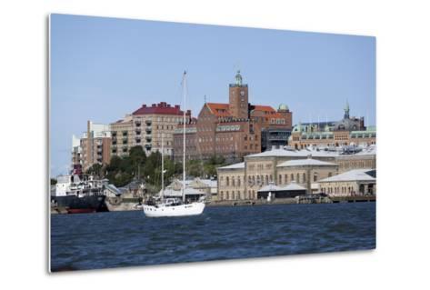 View across the Gota Alv River to Riverfront Buildings, Gothenburg, West Gothland, Sweden-Stuart Black-Metal Print