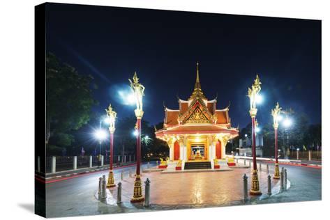 City Gate, Kanchanaburi, Thailand, Southeast Asia, Asia-Christian Kober-Stretched Canvas Print
